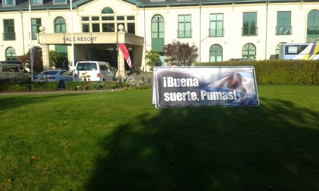 Cartel hotel Pumas